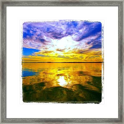 Golden Sunset II Framed Print
