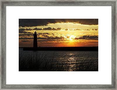 Golden Sunset Framed Print by Joe Gee