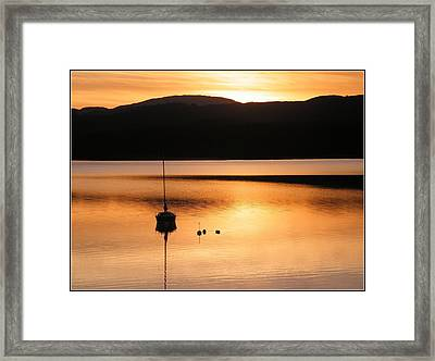 Golden Sunset Framed Print by Ronnie Reffin