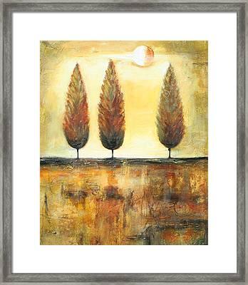 Golden Trees Framed Print
