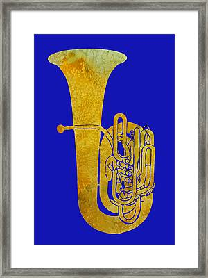 Golden Tuba Framed Print by Jenny Armitage
