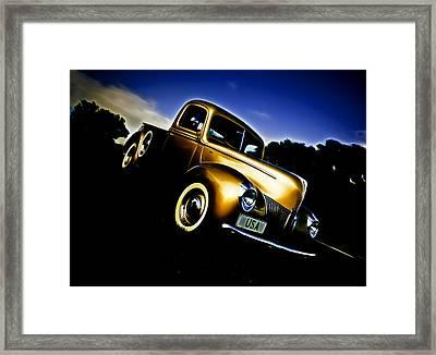 Golden V8 Framed Print by Phil 'motography' Clark