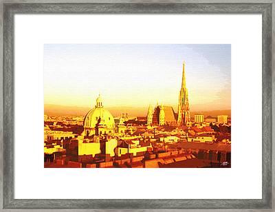 Golden Vienna Framed Print by Steve Huang