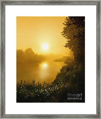 Golden View Framed Print by Robert Foster