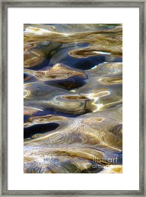 Framed Print featuring the photograph Golden Water by Gary Brandes