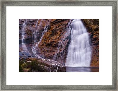 Golden Waterfall Framed Print