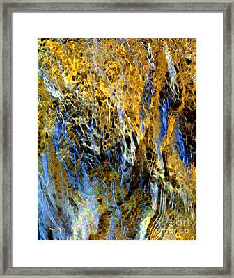 Golden Weeping Willow Framed Print by Dale   Ford
