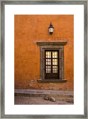 Golden Window Mexico Framed Print