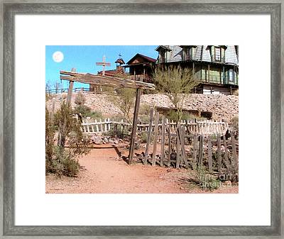 Goldfield Ghost Town Framed Print by Cristophers Dream Artistry