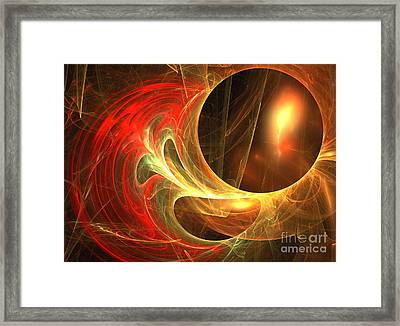 Goldwrap Framed Print by Kim Sy Ok