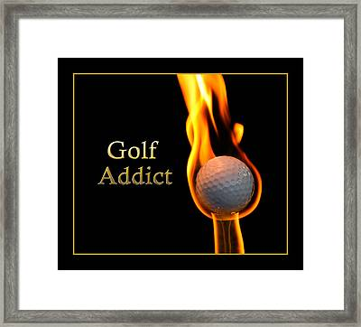 Golf Addict Framed Print by Trudy Wilkerson