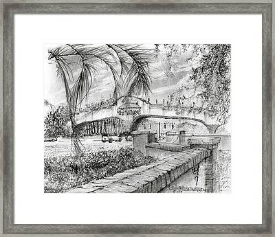 Golf Cart Bridge Framed Print