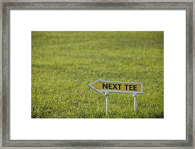 Golf Cours With Sign Next Tee Framed Print