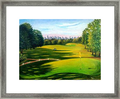 Golf Course At Forest Park Framed Print
