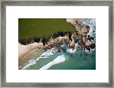 Framed Print featuring the photograph Golf Course by Carole Hinding