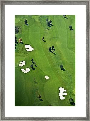 Golf Course Framed Print by Daniel Reiter