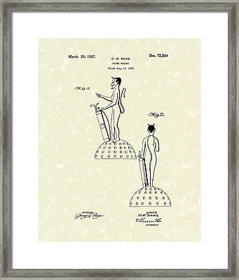 Golf Devil Paperweight 1927 Patent Art Framed Print by Prior Art Design