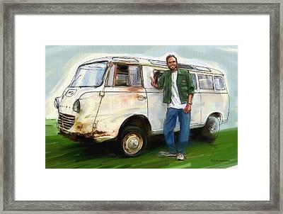 Goliath Van Framed Print by RG McMahon