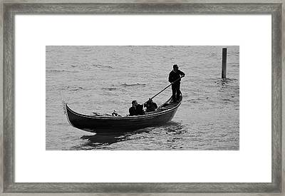 Framed Print featuring the photograph Gondola  by Eric Tressler