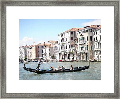 Gondola In Venice Framed Print by Jessica Estrada