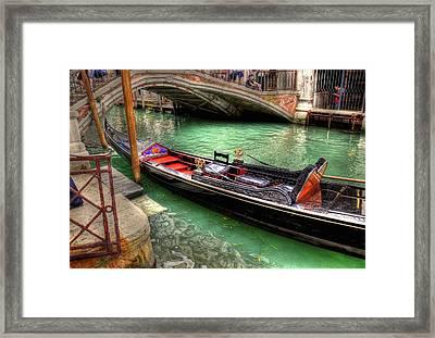Gondola Song Framed Print by Barry R Jones Jr