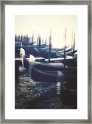 gondolas - Venezia Framed Print by Joana Kruse