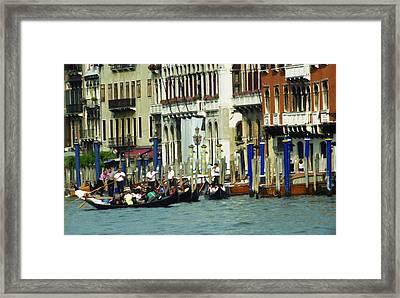Gondolas In Venice Framed Print by Emanuel Tanjala
