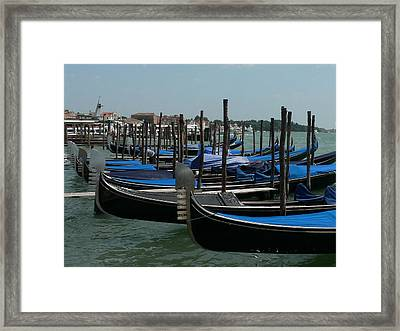 Framed Print featuring the photograph Gondolas by Laurel Best