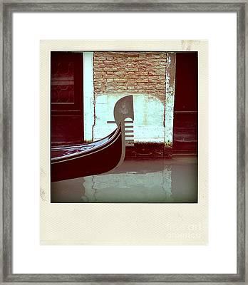 Gondola.venice.italy Framed Print