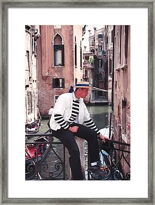 Gondolero  Framed Print