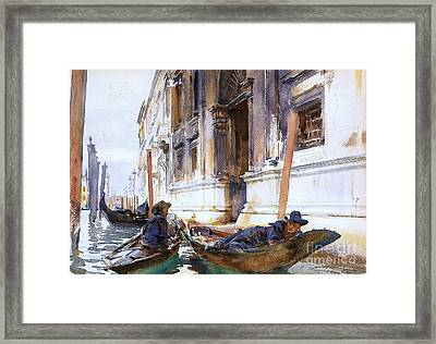 Gondoliers  Siesta Framed Print by Pg Reproductions