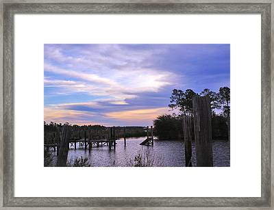 Framed Print featuring the photograph Gone Fishin.. by Brian Wright