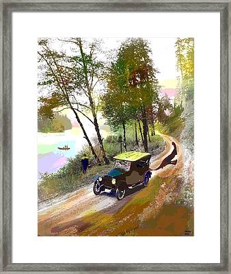 Framed Print featuring the mixed media Gone Fishing by Charles Shoup