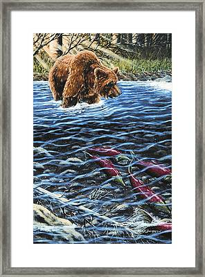 Gone Fishing Framed Print by Kurt Jacobson