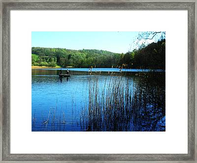 Gone Fishing Framed Print by Peter Jenkins