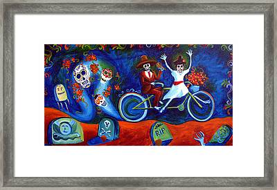 Gone With The Wind Day Of The Dead Framed Print by Janet Oh
