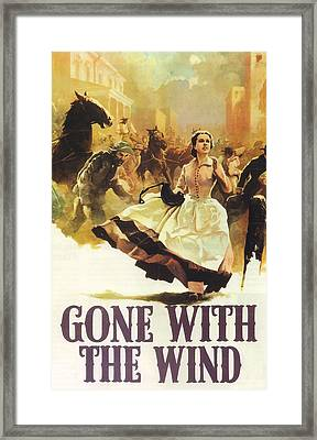 Gone With The Wind Framed Print by Georgia Fowler