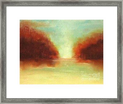 Good Earth   Haze Framed Print by Rosemarie Glennon Kliegman