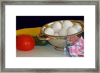 Good Food Framed Print by Methune Hively