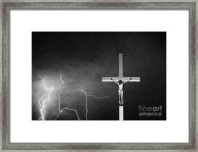 Good Friday - Crucifixion Of Jesus Bw Framed Print by James BO  Insogna