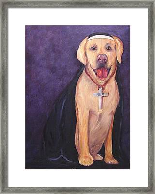 Framed Print featuring the painting Good Habit Rex by Carol Berning