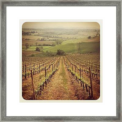Good Morning! Heres One From Tuscany Framed Print