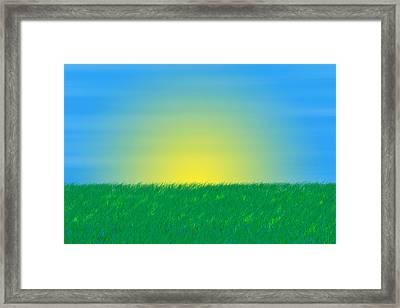 Good Morning  Framed Print by Saad Hasnain
