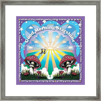 Good Morning Starshine Framed Print by Annie Wildbear