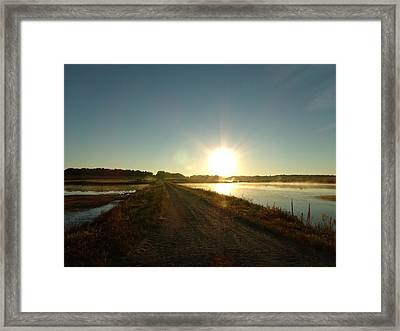 Good Morning Sunrise Road  Framed Print by Brian  Maloney