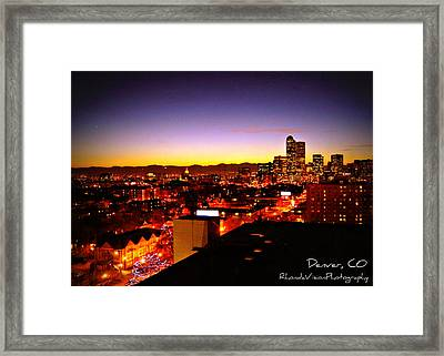 Good Night Mile High Framed Print by Rhonda DePalma