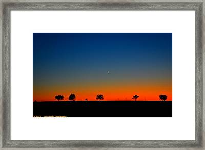 Good Night Moon Framed Print by Dan Crosby