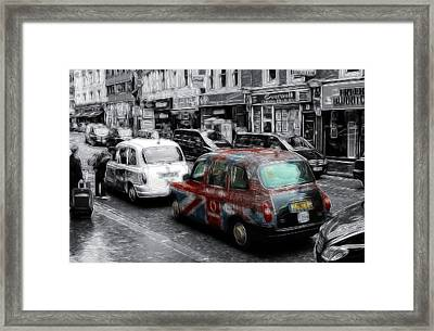 Good Old London Cab Framed Print