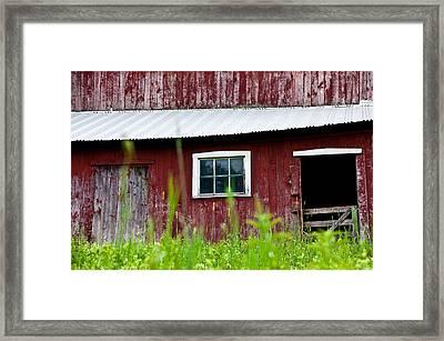 Good Ole Red Barn Framed Print by Karol Livote