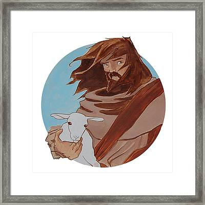 Good Shepherd 2 Framed Print by Miguel De Angel